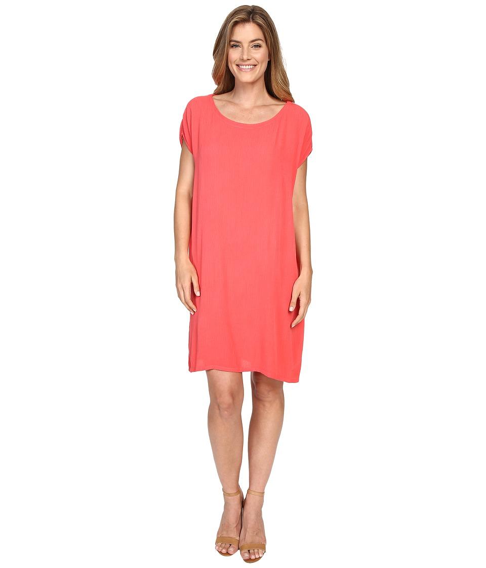 Allen Allen Short Caftan Dress Begonia Womens Dress