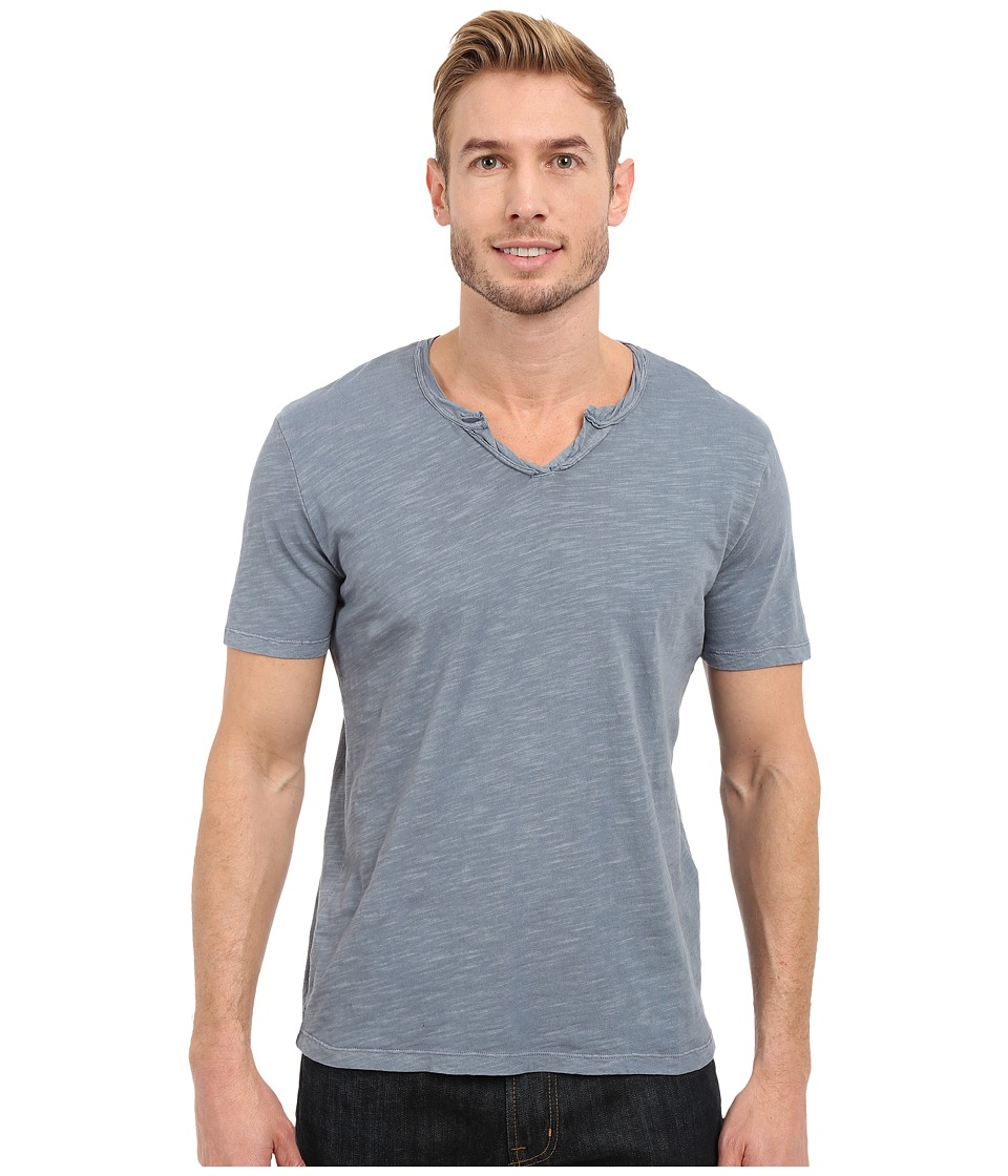 Mod o doc Topanga Short Sleeve Notch V Neck Tee Castlerock Mens T Shirt