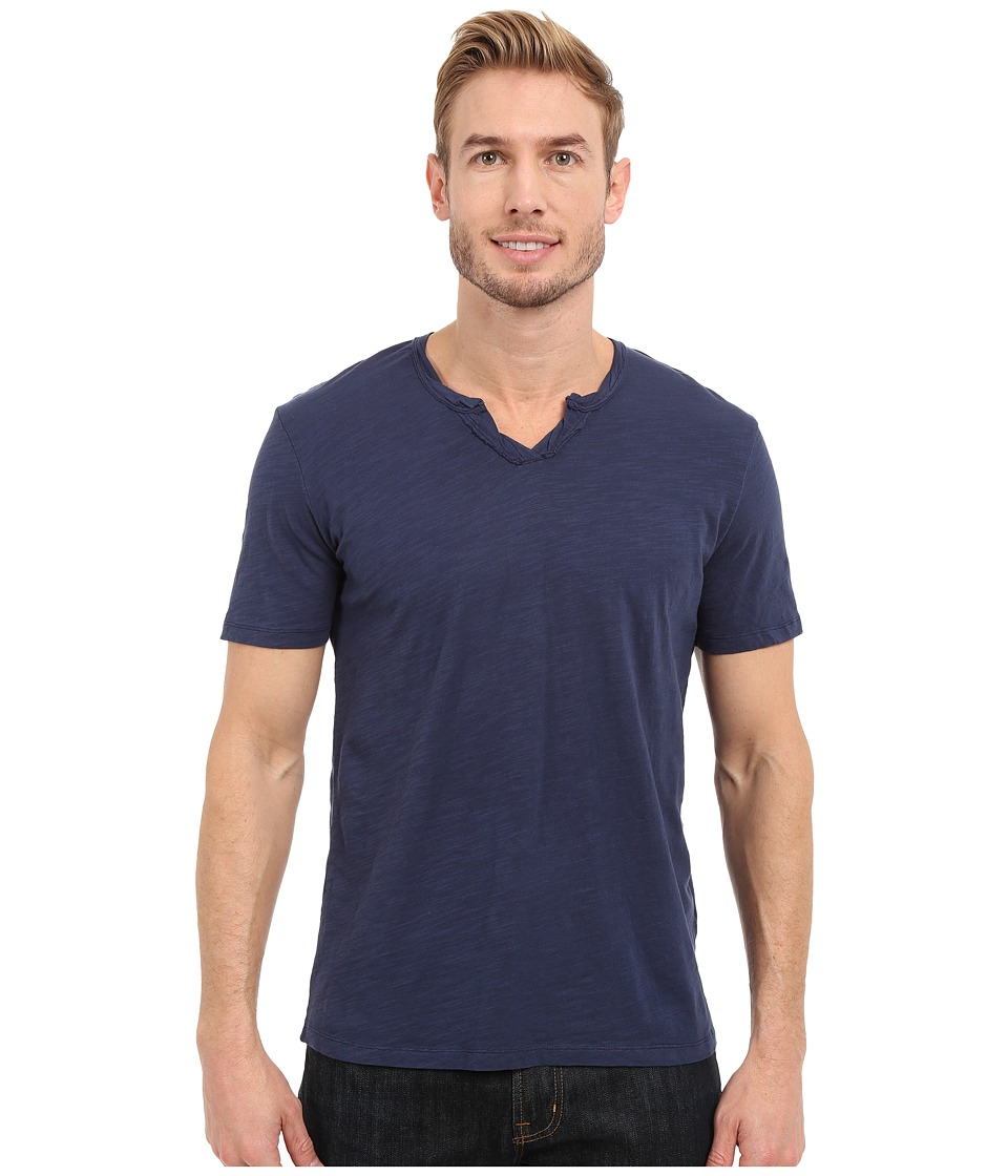 Mod o doc Topanga Short Sleeve Notch V Neck Tee New Navy Mens T Shirt
