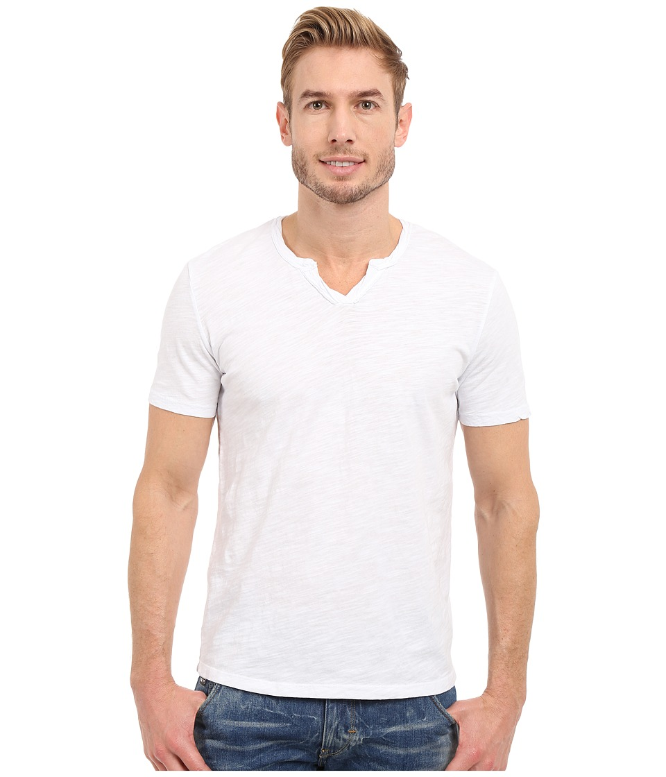 Mod o doc Topanga Short Sleeve Notch V Neck Tee White Mens T Shirt