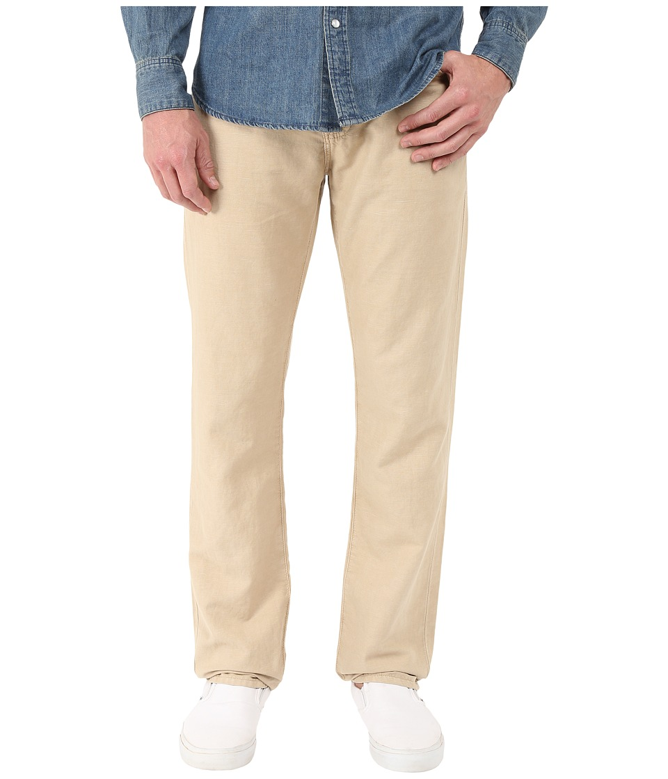 AG Adriano Goldschmied Graduate Tailored Leg Linen in Sulfur Desert Taupe Sulfur Desert Taupe Mens Casual Pants