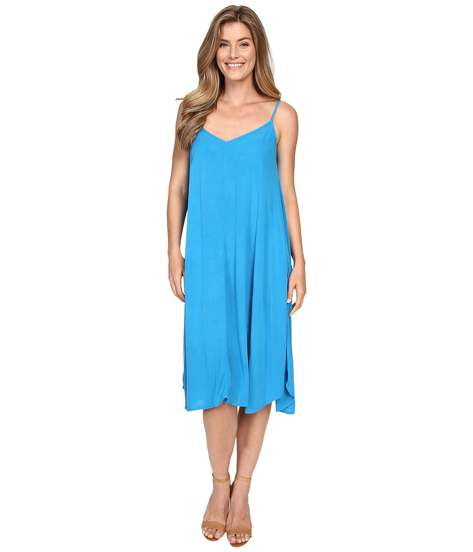 Allen Allen Vee Cami Mid Length Dress Blue Danube Womens Dress