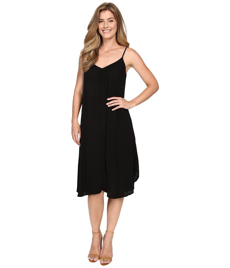 Allen Allen Vee Cami Mid Length Dress Black Womens Dress