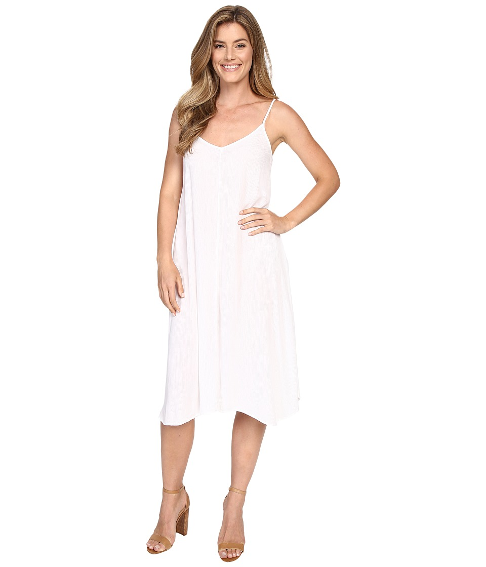 Allen Allen Vee Cami Mid Length Dress White Womens Dress