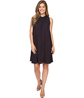 Allen Allen - Sleeveless Mock Neck Swing Dress