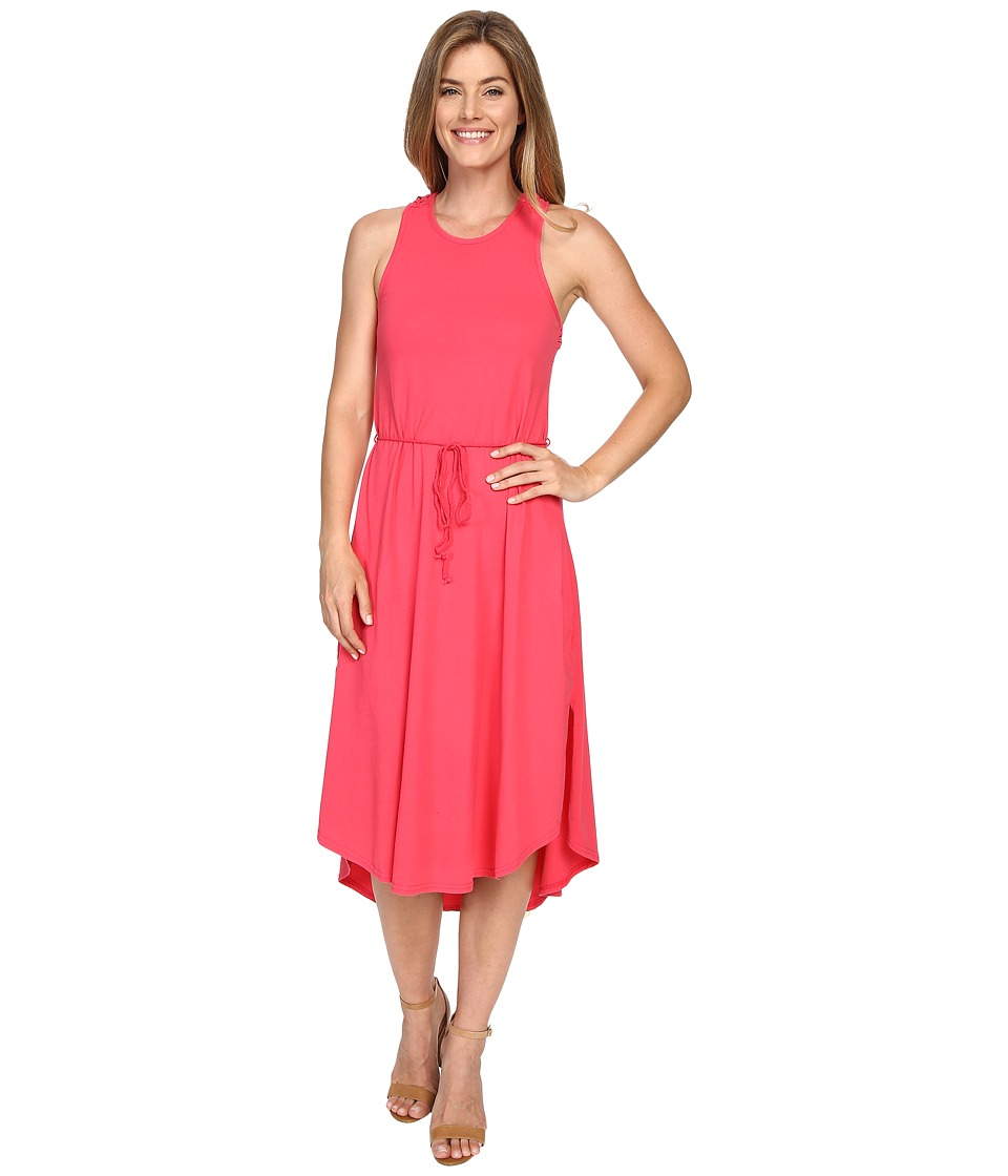 Mod o doc Classic Jersey Crochet Racerback Tank Dress Dragonfruit Womens Dress