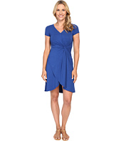 Mod-o-doc - Cotton Modal Spandex Faux Wrap Twist Front Dress