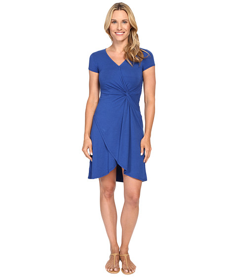 Mod-o-doc - Cotton Modal Spandex Faux Wrap Twist Front Dress (Sailor) Women's Dress