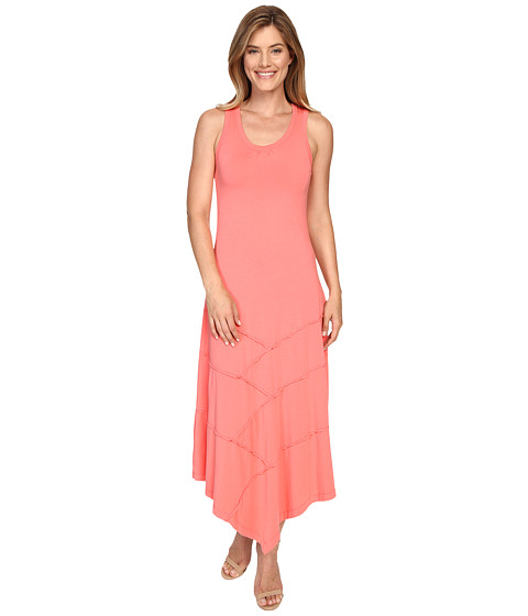 Mod-o-doc Cotton Modal Spandex Seamed Hanky Hem Maxi Dress