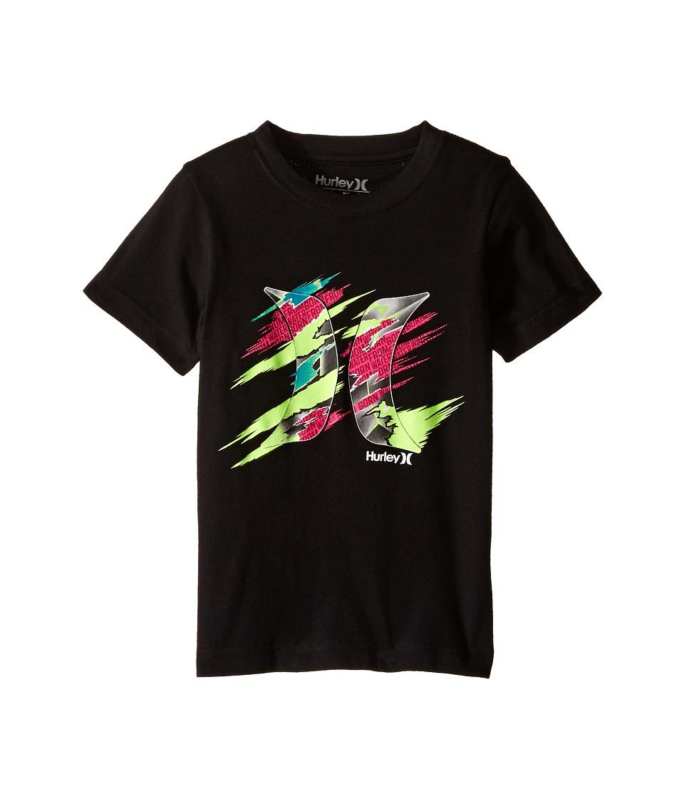 Hurley Kids Torn Short Sleeve Tee Little Kids Black Boys T Shirt