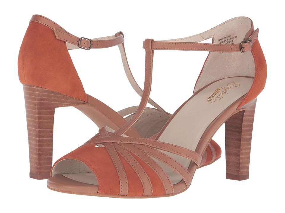 1930s Style Shoes Seychelles - Lap Rust SuedeTan Leather High Heels $100.00 AT vintagedancer.com
