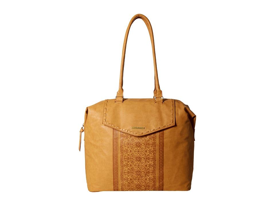 Volcom - Rebel Rose Tote (Tan) Tote Handbags