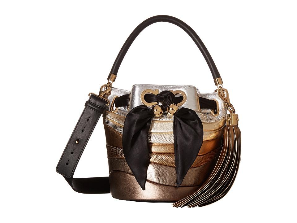 Salvatore Ferragamo - 21G071 Sara (Moon/Argento/Stardust) Handbags