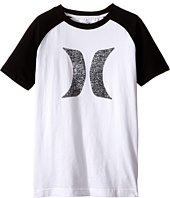 Hurley Kids - Icon Short Sleeve Raglan (Big Kids)