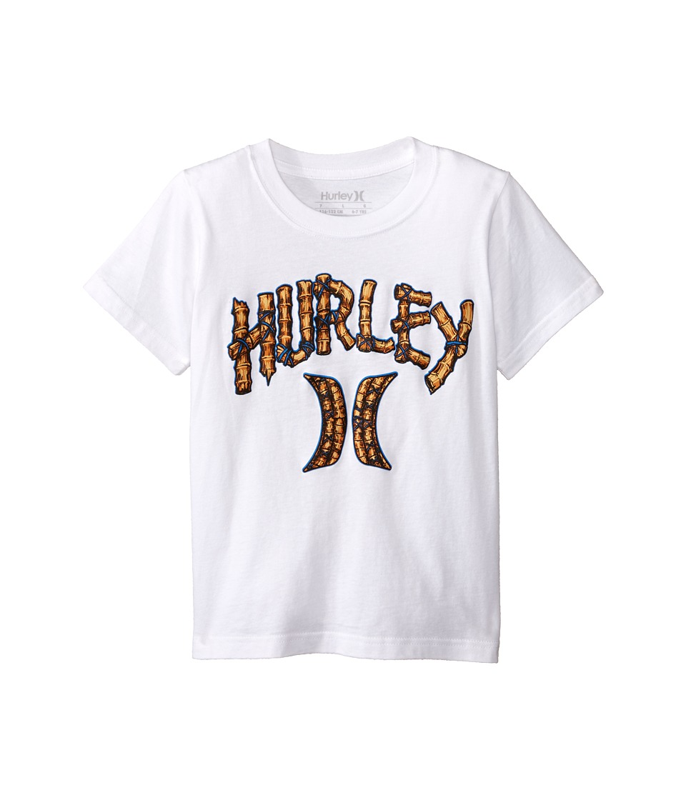 Hurley Kids Bamboo Short Sleeve Tee Little Kids White Boys Short Sleeve Pullover