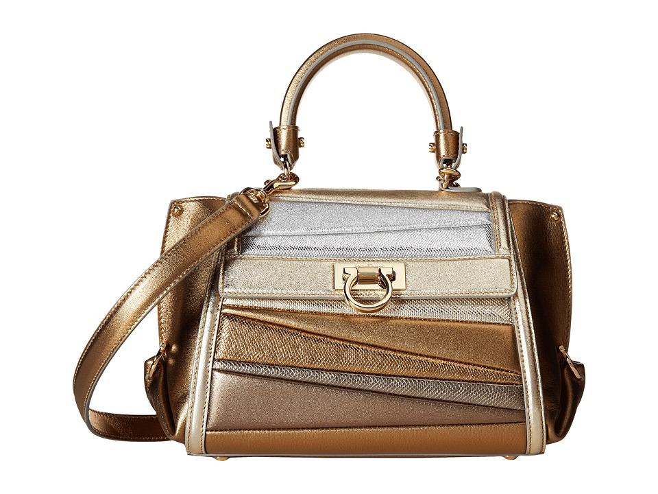 Salvatore Ferragamo - 21G085 Sofia (Moon/Argento/Stardust) Handbags