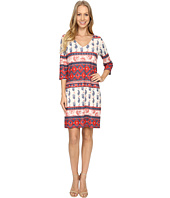 Nally & Millie - Printed V-Neck Reversible Dress