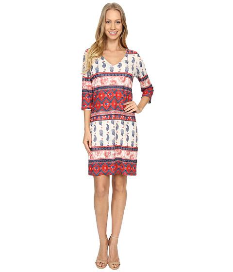 Nally & Millie Printed V-Neck Reversible Dress