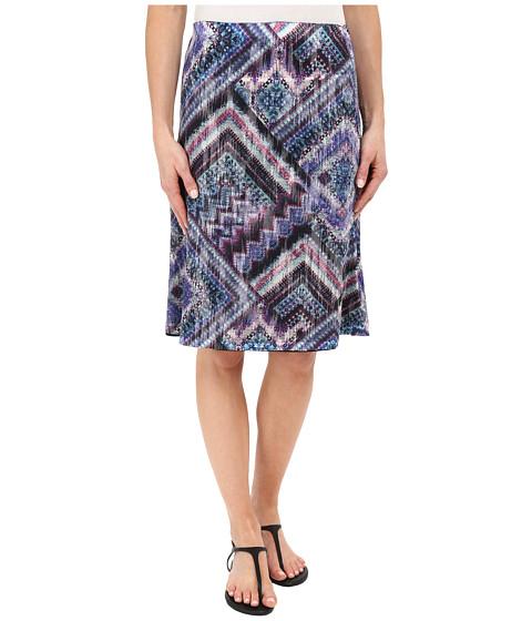 Nally & Millie Scarf Print Reversible Burnout Skirt