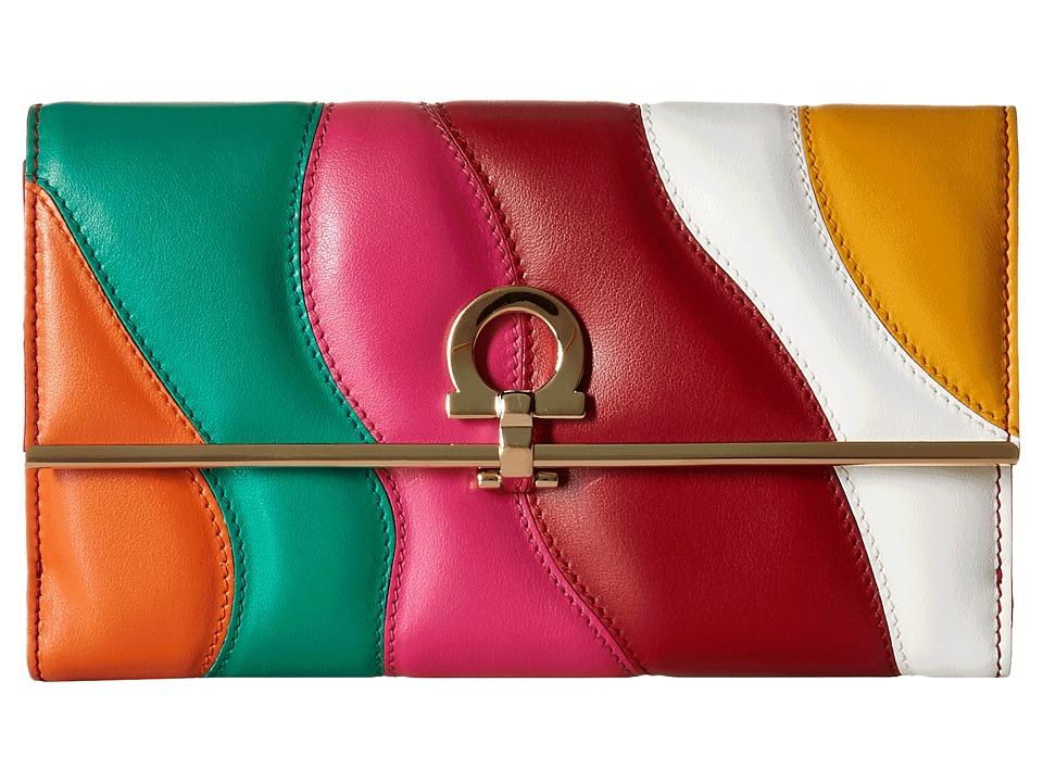 Salvatore Ferragamo - 22C657 (Hot Pink/Mandarino/Emeraude) Wallet