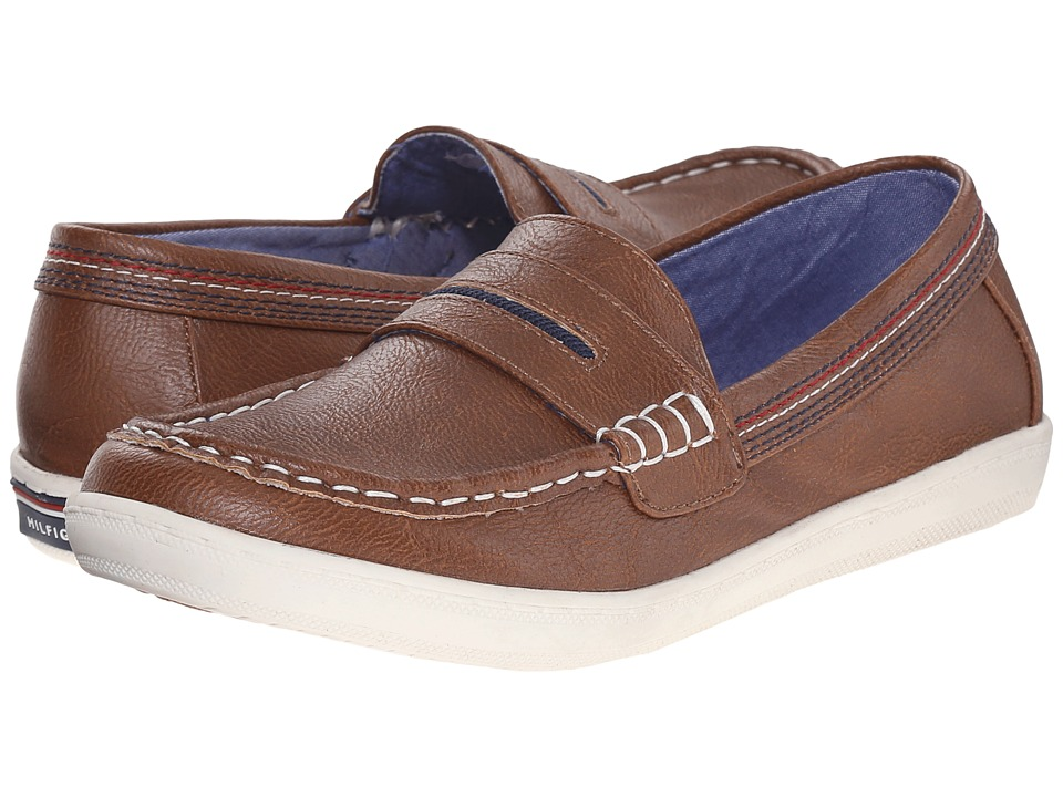 Tommy Hilfiger Kids - Dylan Boat Shoe (Little Kid/Big Kid) (Cognac) Boys Shoes
