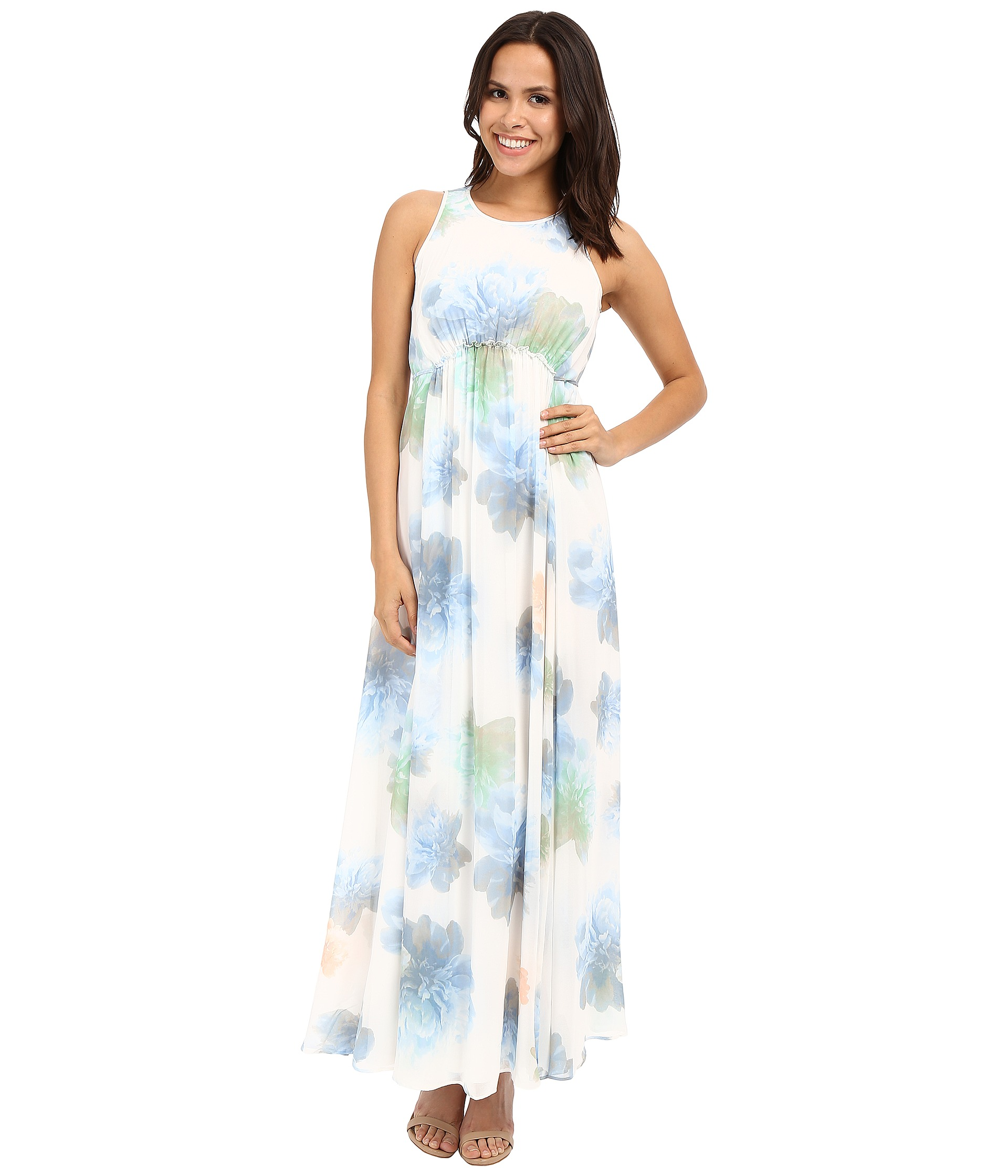 Calvin Klein Floral Maxi Dress Cd6h4r7r Free