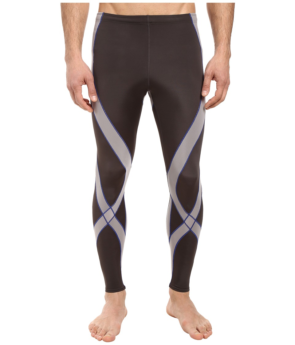 CW-X - Endurance Pro Tight (Gray/Light Grey/Blue) Mens Workout