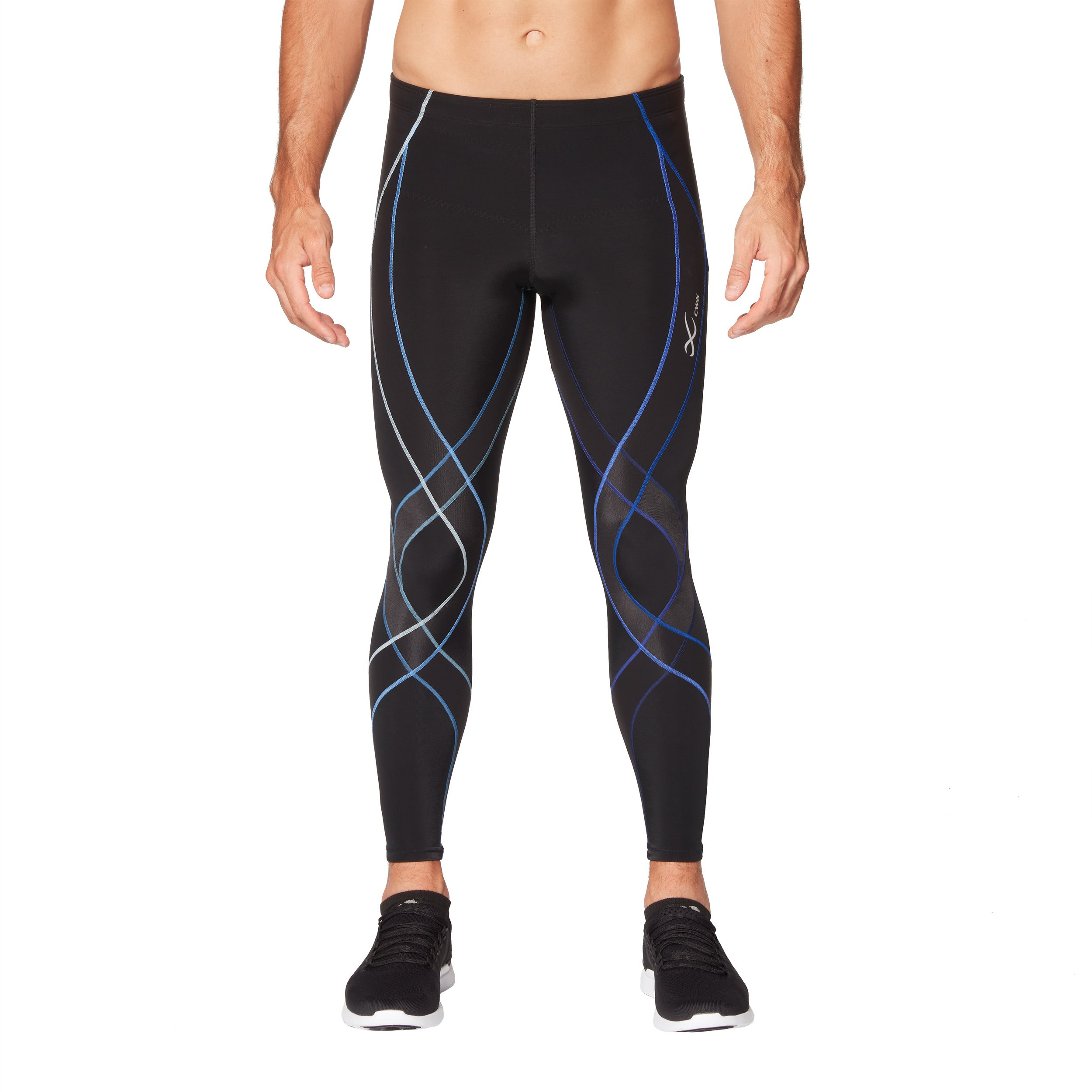 CW-X Endurance Generator Tights (Black/Blue Gradation) Men