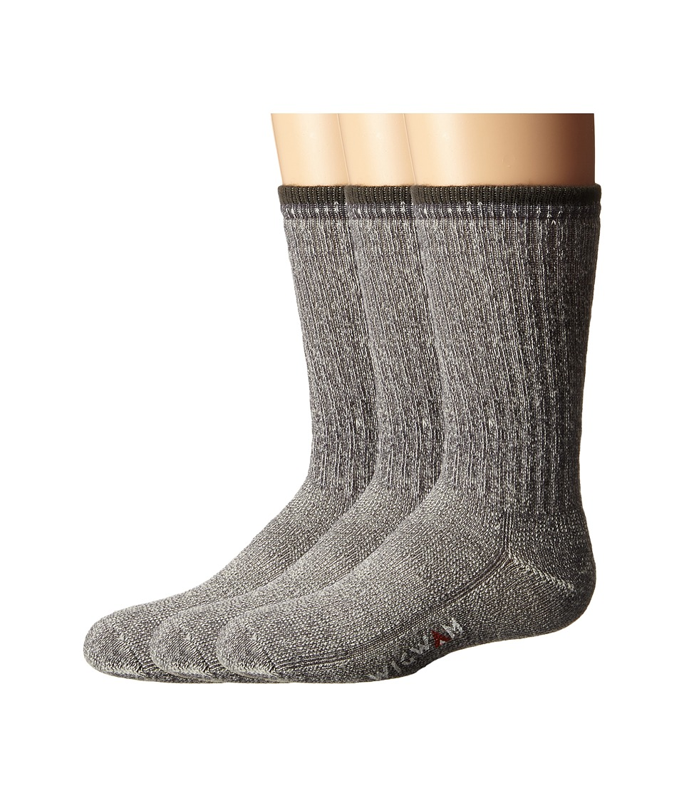 Wigwam Merino Comfort Hiker 3 Pack ToddlerYouth Charcoal Crew Cut Socks Shoes