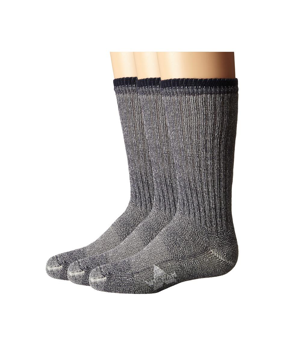 Wigwam Merino Comfort Hiker 3 Pack ToddlerYouth Navy Crew Cut Socks Shoes