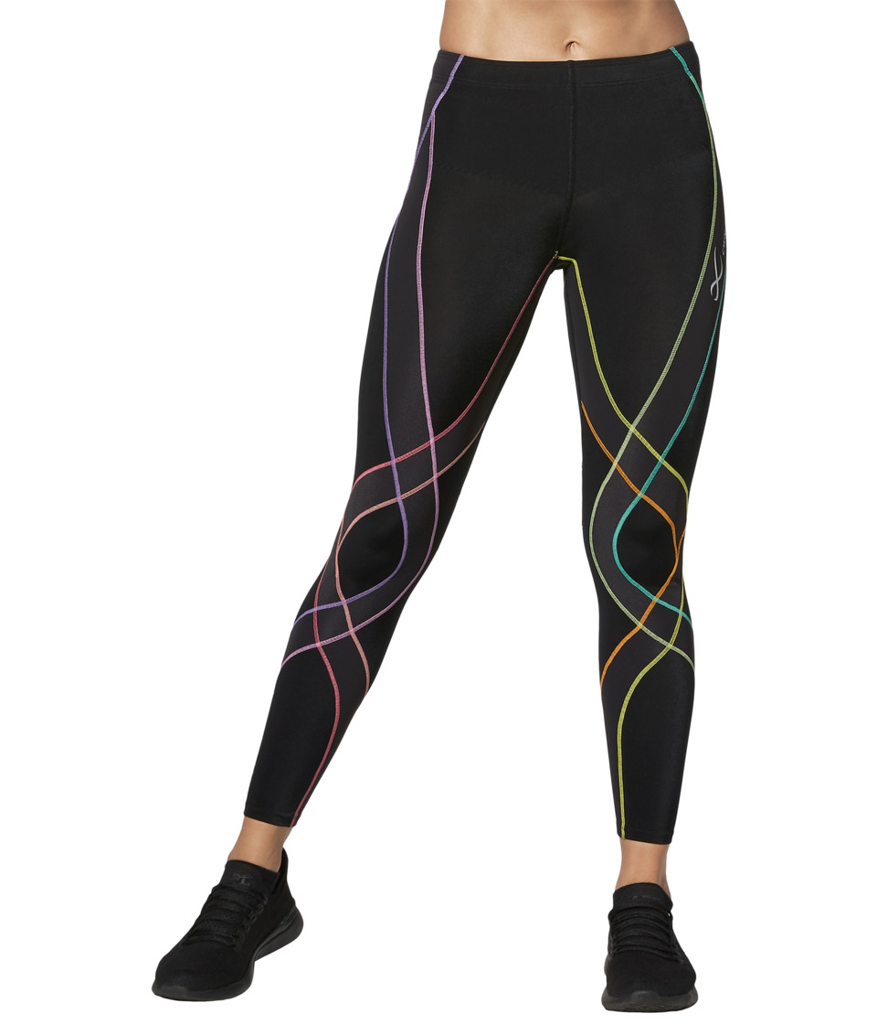 CW-X - Endurance Generator Tights (Black/Pastel Rainbow) Womens Workout