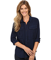 Calvin Klein Jeans - Garment Dye Utility D-Ring Tab Long Sleeve Shirt