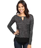 Calvin Klein Jeans - Heather Long Sleeve Key Hole Top