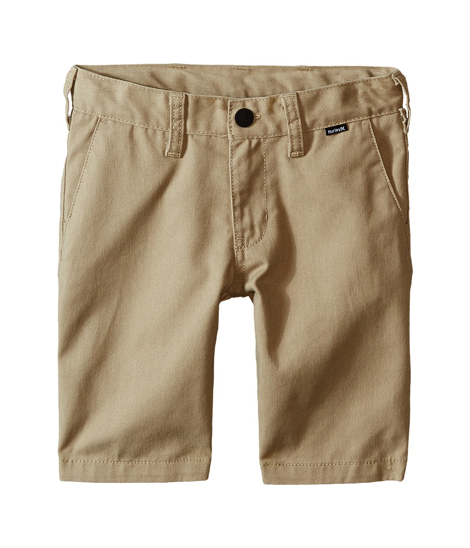 Hurley Kids - One and Only Walkshorts (Little Kids) (Khaki) Boys Shorts