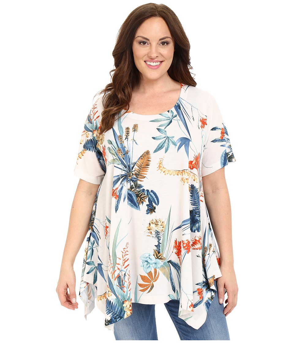 Nally amp Millie Plus Size Tropical Floral Tunic Multi Womens Blouse