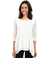 Nally & Millie - Lace Layered Tunic with Side Slits
