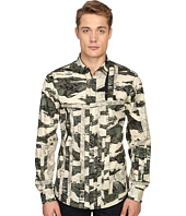 Just Cavalli - Slim Fit Camowork Pring Woven Shirt