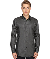 Just Cavalli - Regular Fit Leather Effect Woven Shirt
