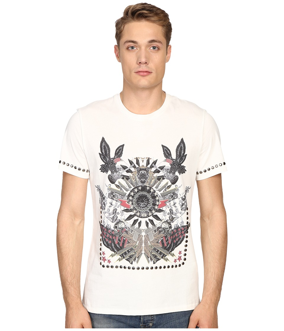 Just Cavalli Slim Fit Abstract Print Jersey T-Shirt (Papyrus) Men