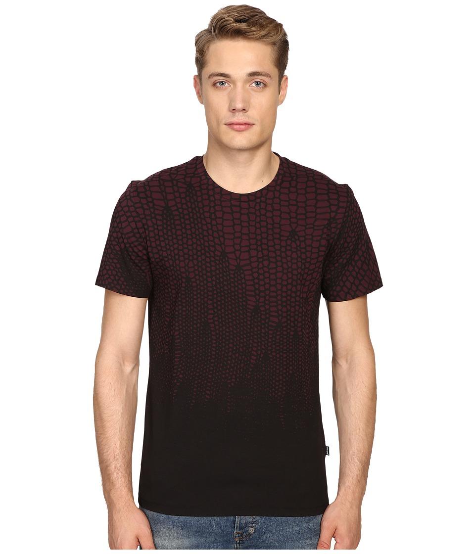 Just Cavalli - Slim Fit Scale T-Shirt (Wine) Men