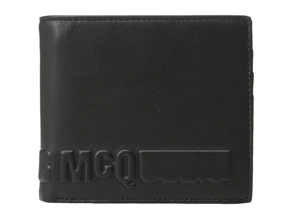 McQ - Fold Wallet (Darkest Black) Wallet Handbags