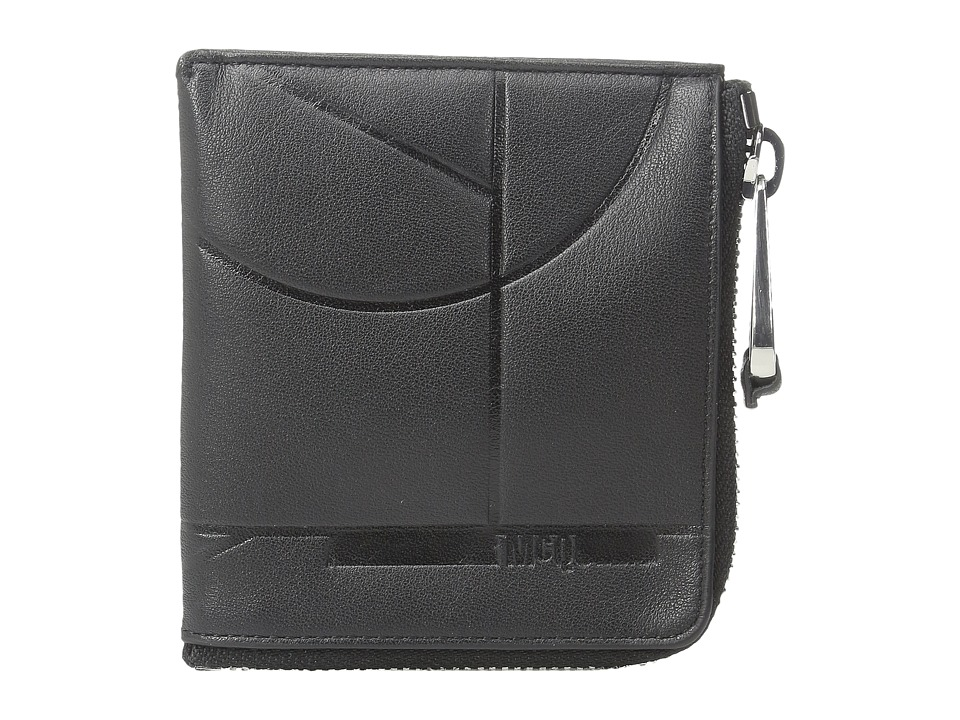 McQ - 2 Side Zip Wallet (Darkest Black) Wallet Handbags