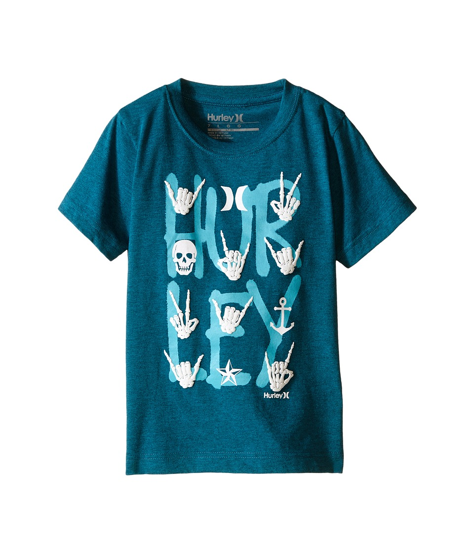 Hurley Kids All Signs Tee Little Kids Turbo Green Heather Boys T Shirt