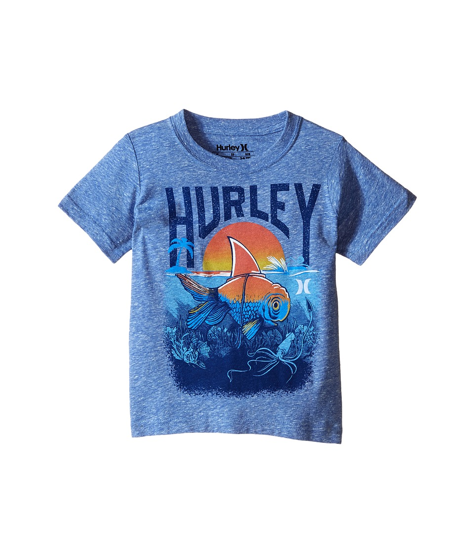 Hurley Kids - Great White Tee (Little Kids) (Royal Snow Heather) Boy