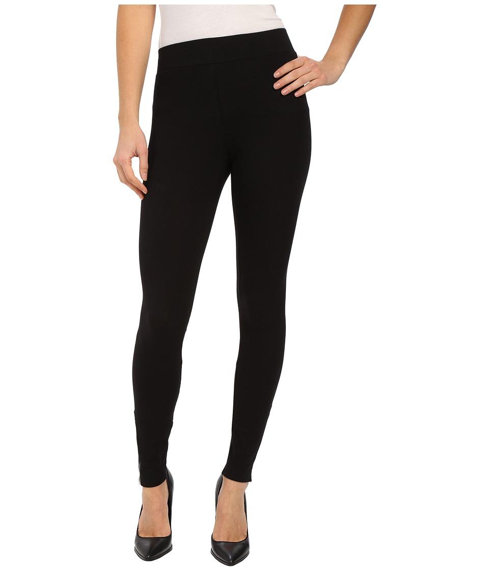 LNA - Mid-Rise Leggings (Flat Black) Womens Casual Pants
