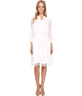 Adrianna Papell - Embroidery Voile Shirtdress