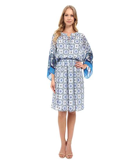 Adrianna Papell Print Chiffon Loose Fit Dress