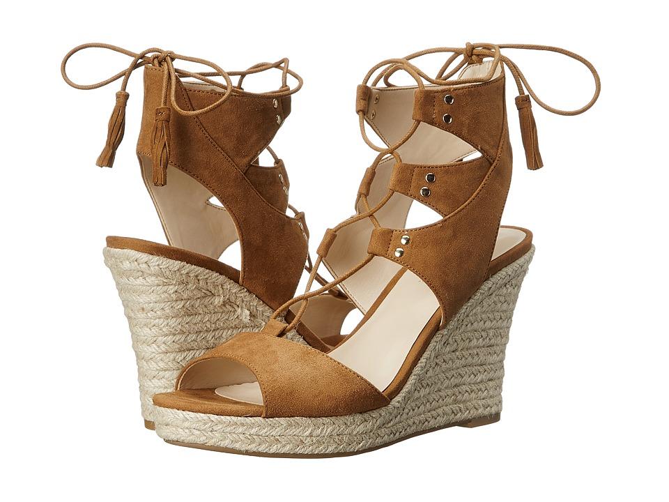 GUESS Lamba Tan Suede Womens Wedge Shoes