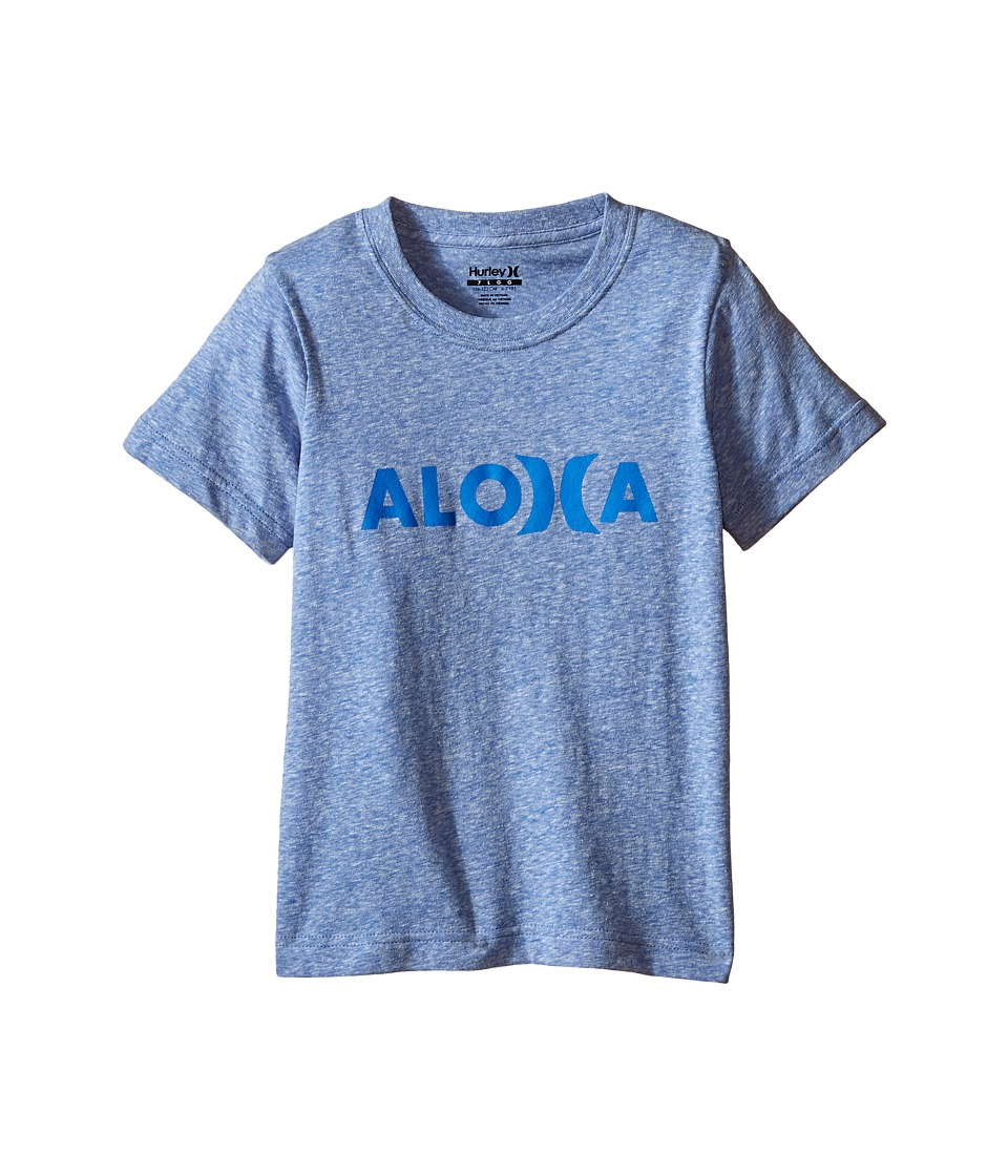 Hurley Kids Aloha Tee Little Kids Royal Snow Heather Boys T Shirt