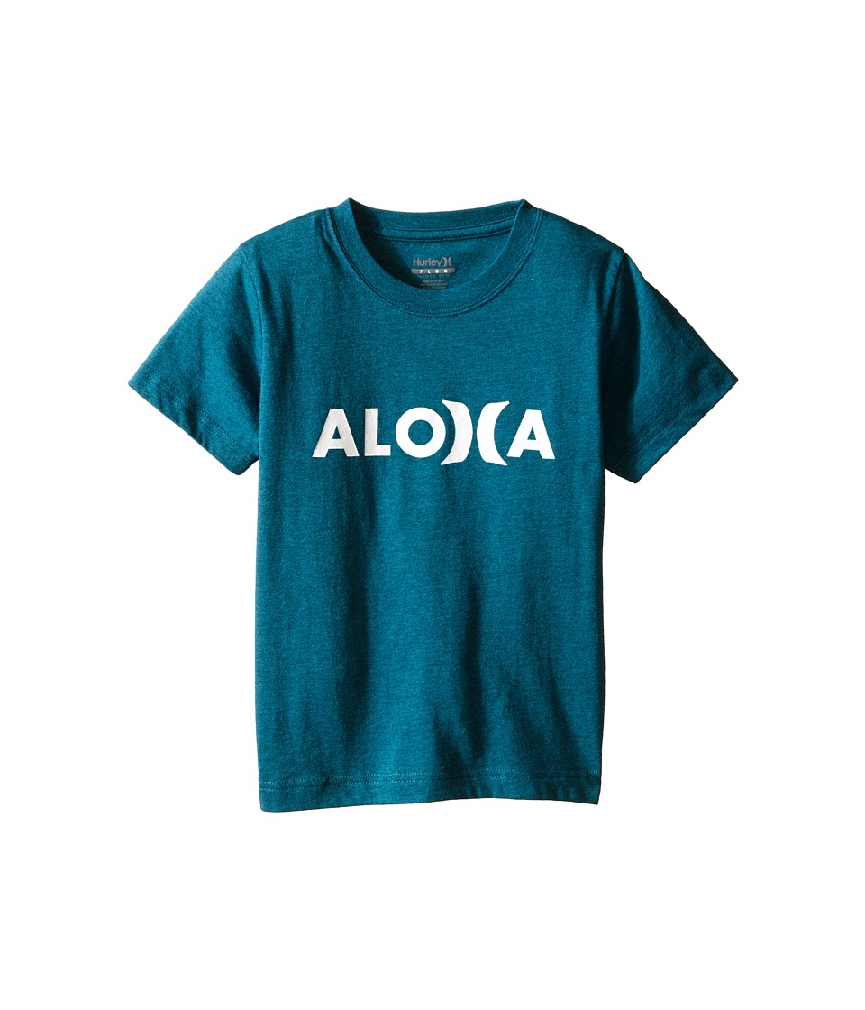 Hurley Kids Aloha Tee Little Kids Turbo Green Heather Boys T Shirt